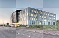 Modern gebouw hoofdkantoor softwarebedrijf Exact