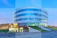 Modern gebouw van 3M in Delft
