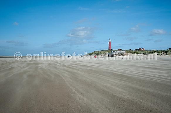 Strand Texel vuurtoren