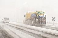 winter glad sneeuw verkeer