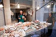 De vismarkt in Palermo